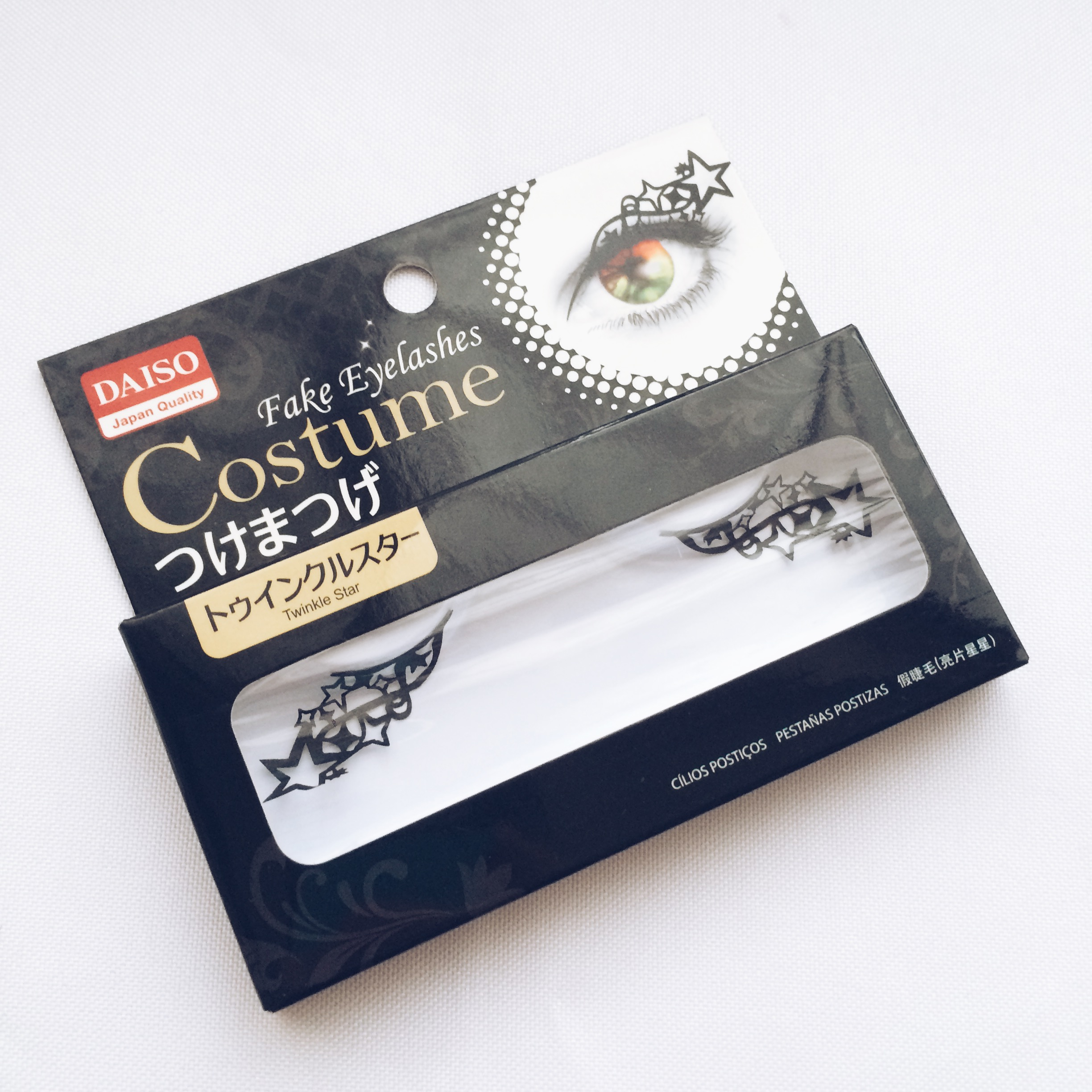 Review Daiso Costume Fake Eyelashes In Twinkle Star